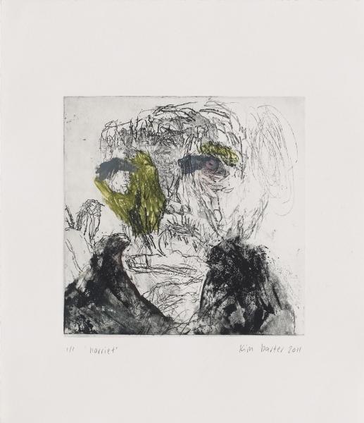 harriet etching 25cm H x 25cm W 2011